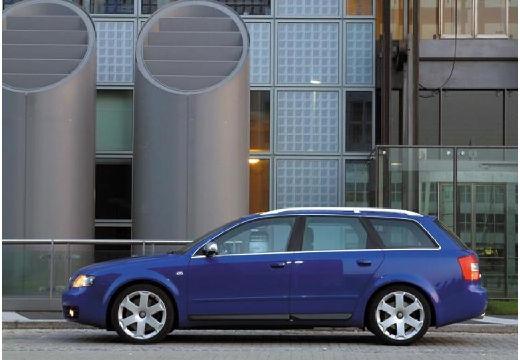 AUDI A4 Avant 8E I kombi niebieski jasny boczny lewy