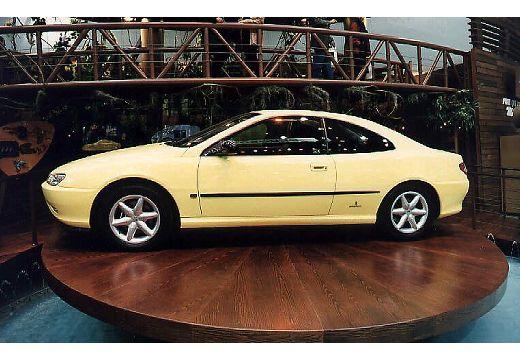 PEUGEOT 406 II coupe niebieski jasny boczny prawy