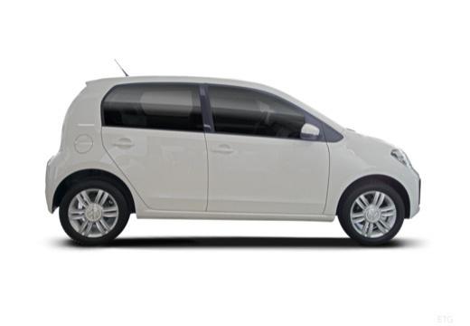 VOLKSWAGEN up e- FL hatchback biały boczny prawy