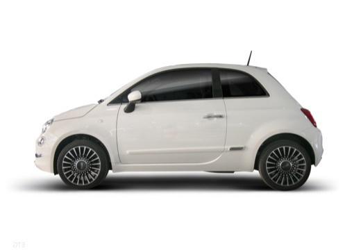 FIAT 500 hatchback biały boczny lewy