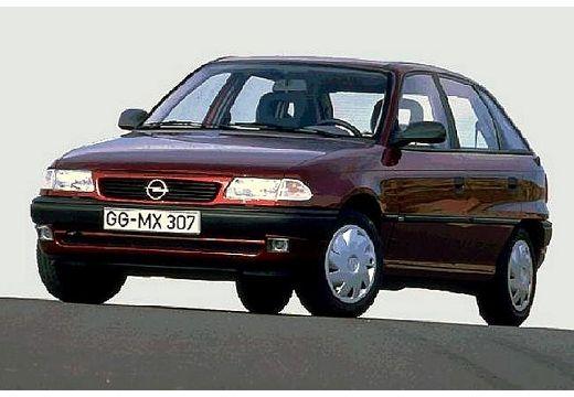 OPEL Astra II hatchback bordeaux (czerwony ciemny) przedni lewy