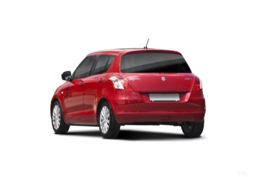 SUZUKI Swift III hatchback czerwony jasny tylny lewy