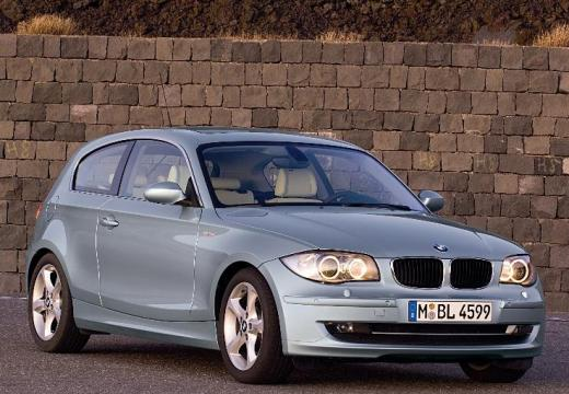 BMW Seria 1 E81 hatchback silver grey przedni prawy