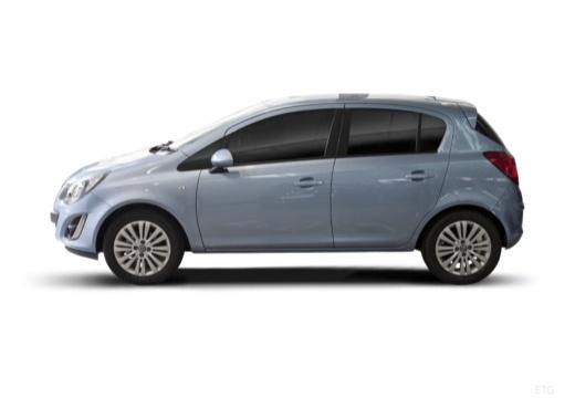 OPEL Corsa D II hatchback niebieski jasny boczny lewy