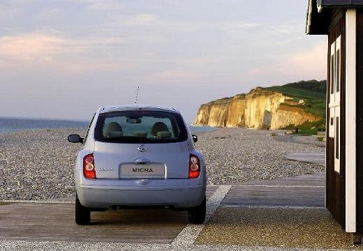 NISSAN Micra VI hatchback niebieski jasny tylny