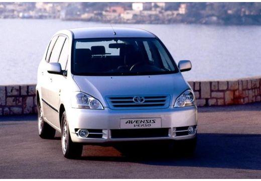 Toyota Avensis Verso I van silver grey przedni prawy