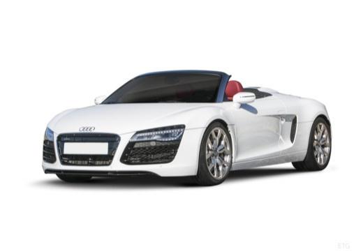 AUDI R8 roadster biały przedni lewy
