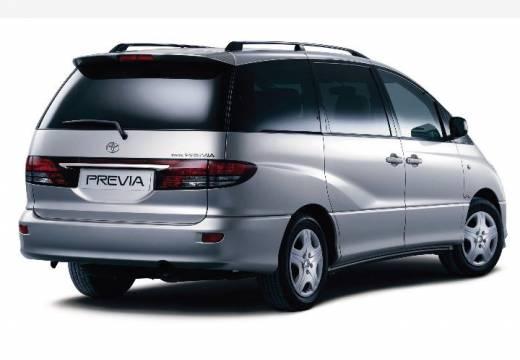 Toyota Previa II van silver grey tylny prawy