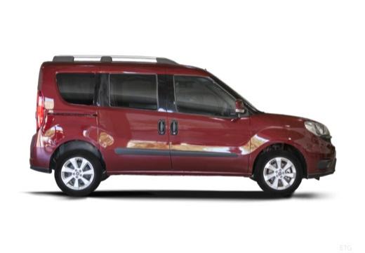 FIAT Doblo kombi bordeaux (czerwony ciemny) boczny prawy