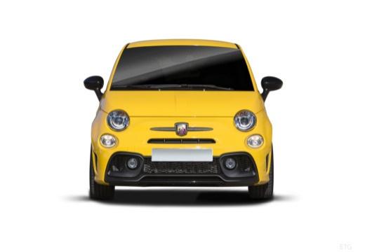 ABARTH 500 hatchback żółty przedni