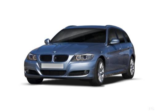 BMW Seria 3 Touring E91 II kombi niebieski jasny przedni lewy