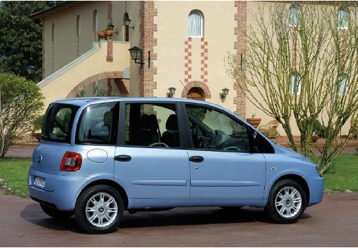 FIAT Multipla II kombi niebieski jasny tylny prawy