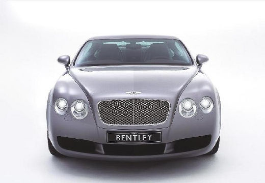 BENTLEY Continental coupe silver grey przedni