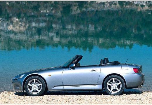 HONDA S 2000 I roadster silver grey boczny lewy