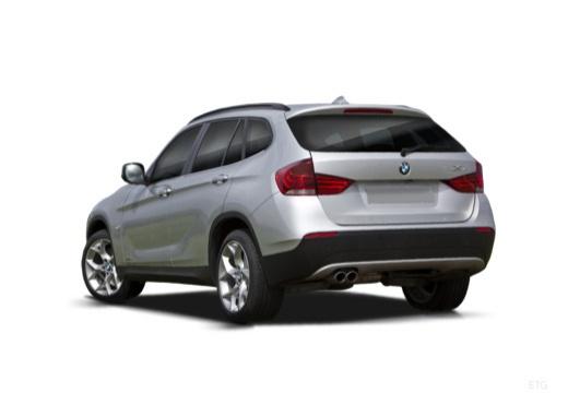 BMW X1 X 1 E84 I kombi silver grey tylny lewy