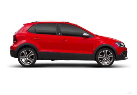 VOLKSWAGEN Polo V I hatchback czerwony jasny boczny prawy