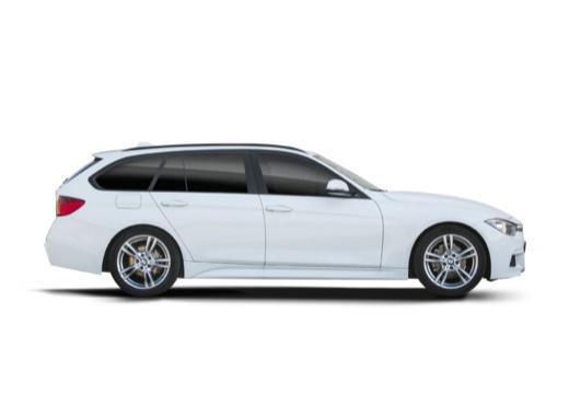 BMW Seria 3 Touring F31 I kombi biały boczny prawy