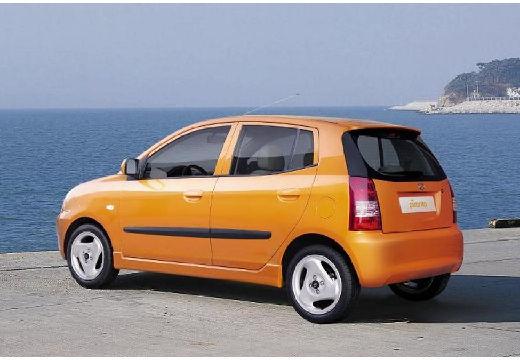 KIA Picanto I hatchback pomarańczowy tylny lewy