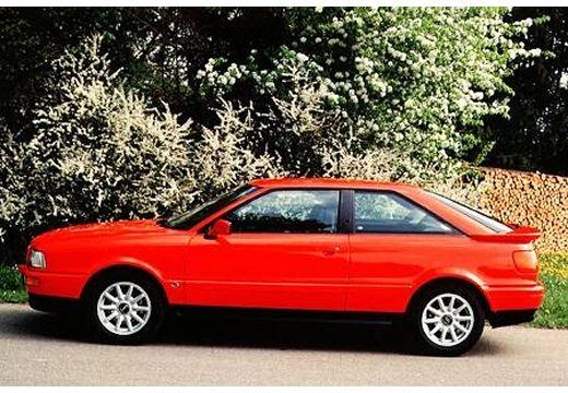 AUDI 80 89 coupe czerwony jasny boczny lewy