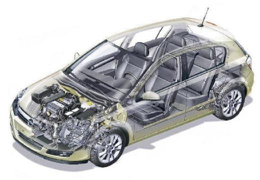 OPEL Astra III I hatchback prześwietlenie