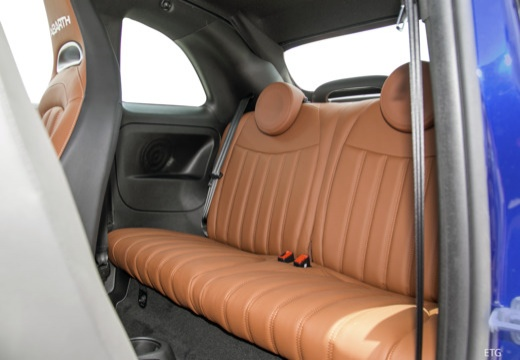 ABARTH 500 C kabriolet niebieski jasny wnętrze