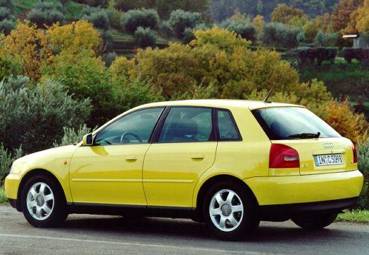 AUDI A3 /S3 8L I hatchback żółty tylny lewy