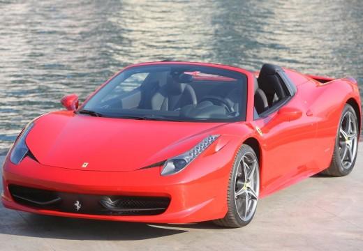 FERRARI 458 kabriolet czerwony jasny przedni lewy