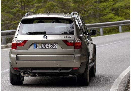 BMW X3 kombi szary ciemny tylny prawy