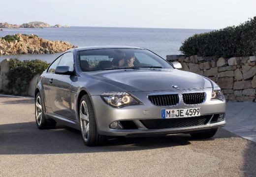 BMW Seria 6 coupe silver grey przedni prawy
