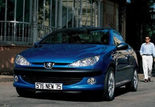 PEUGEOT 206 kabriolet niebieski jasny przedni lewy