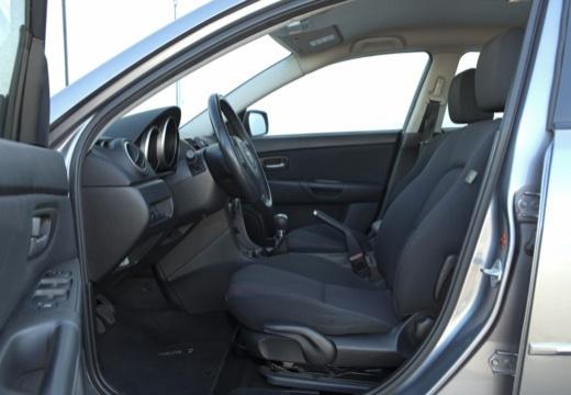 MAZDA 3 I sedan silver grey wnętrze