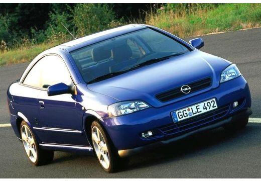 OPEL Astra II Bertone coupe niebieski jasny przedni prawy
