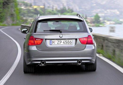 BMW Seria 3 Touring E91 II kombi szary ciemny tylny