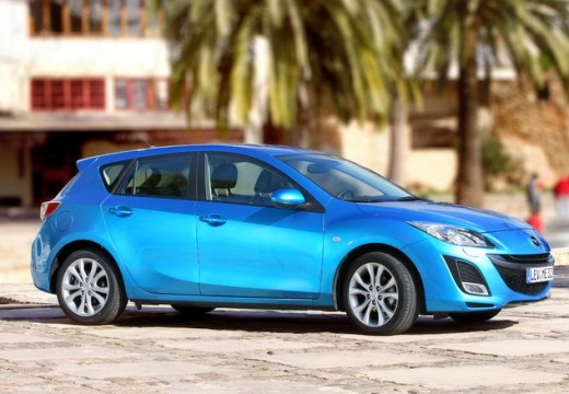MAZDA 3 III hatchback niebieski jasny przedni prawy