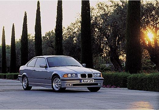 BMW Seria 3 E36 coupe silver grey przedni prawy
