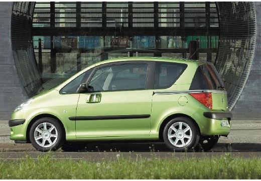 PEUGEOT 1007 hatchback zielony tylny lewy
