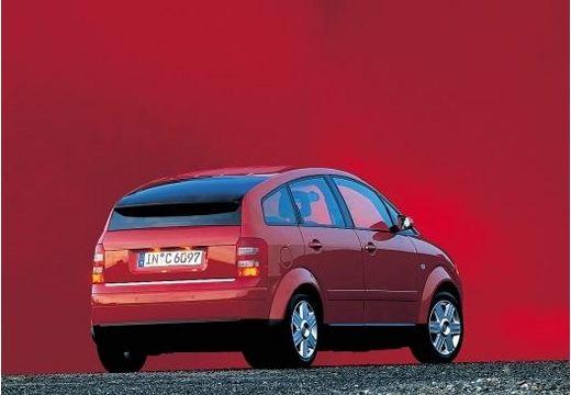 AUDI A2 hatchback czerwony jasny tylny prawy