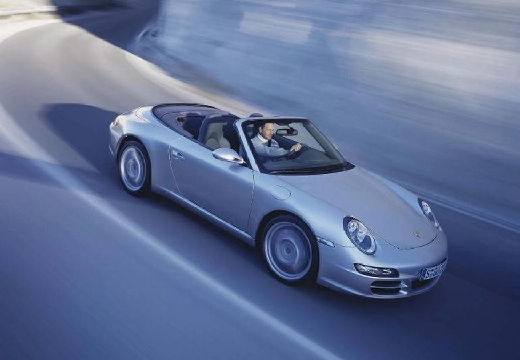 PORSCHE 911 Cabrio 997 kabriolet silver grey przedni prawy