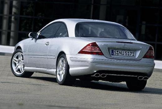MERCEDES-BENZ Klasa CL 215 coupe silver grey tylny lewy