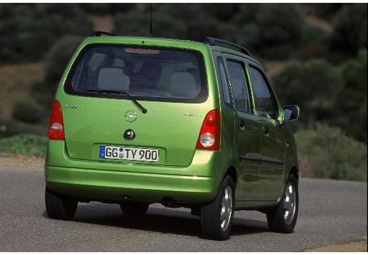 OPEL Agila I hatchback zielony tylny prawy