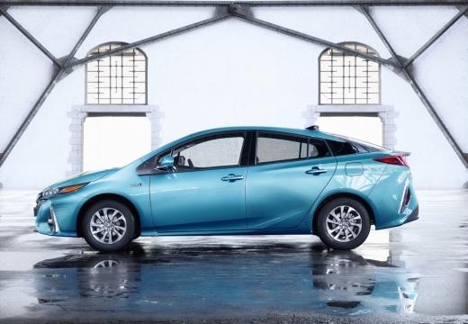 Toyota Prius hatchback niebieski jasny boczny lewy