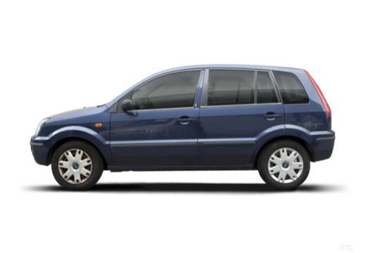 FORD Fusion I hatchback niebieski jasny boczny lewy