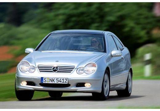 MERCEDES-BENZ Klasa C Sport CL203 I coupe silver grey przedni lewy