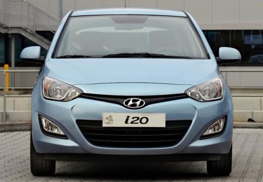 HYUNDAI i20 II hatchback niebieski jasny przedni