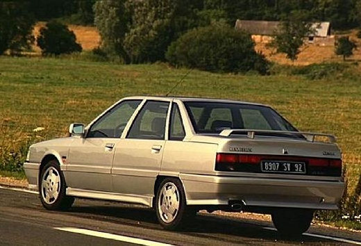 RENAULT R21 Berline sedan silver grey tylny lewy