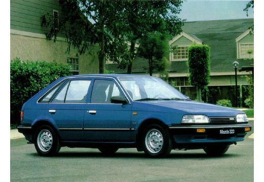 MAZDA 323 II hatchback niebieski jasny przedni prawy