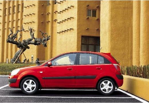 KIA Rio III hatchback czerwony jasny boczny lewy