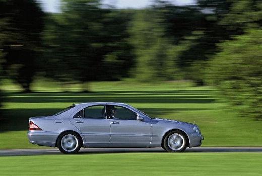 MERCEDES-BENZ Klasa S W 220 II sedan silver grey boczny prawy