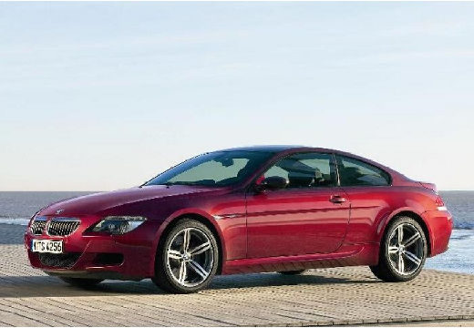 BMW Seria 6 E63 I coupe bordeaux (czerwony ciemny) przedni lewy