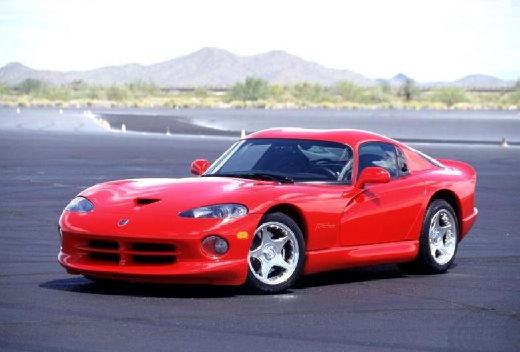 DODGE Viper Roadster coupe czerwony jasny przedni lewy